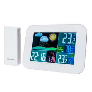 Wireless Backlight Weather Station with time, alarm clock, temperature, humidity, and forecast