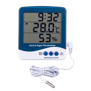 Large LCD Digital Thermometer & Hygrometer
